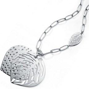 Collar Viceroy de plata forma de hoja 1029C000-00