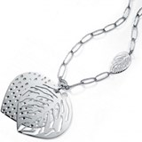 Shape silver necklace Viceroy sheet 1029C000-00