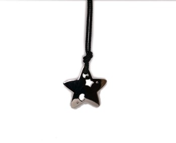 Necklace cord with silver 0058A star Pasquale Bruni