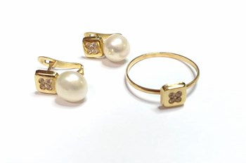 COMBINED GAME GOLD CULTURED PEARL - OWN - JA3117