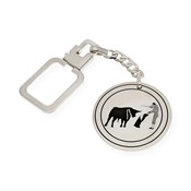 SET OF CUFFLINKS AND KEY RING IN SILVER 925/1000 REDUCED BY REASON OF BULLFIGHTING, THE BRAND MANOLETINA