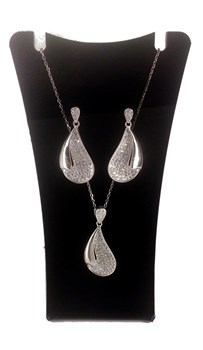 Combined set of EARRINGS and PENDANT silver 316108 CAPRICCIO Capriccio Silver