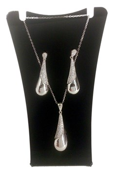 Combined set of EARRINGS and PENDANT silver 316404 CAPRICCIO Capriccio Silver