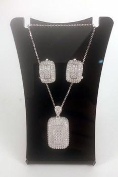 Combined set of EARRINGS and PENDANT silver 373008 CAPRICCIO Capriccio Silver