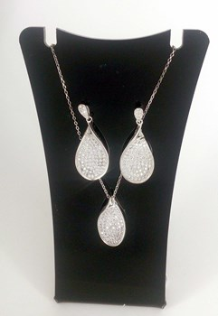 Combined set of EARRINGS and PENDANT silver 573002 CAPRICCIO Capriccio Silver
