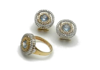 Combined set of ring and EARRINGS