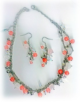Combined set 673803 EARRINGS and CHOKER INORI