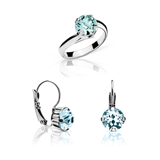 SET KELIA EARRINGS AND RING AC-N7AGUA-30016AGUA ABBAN COHEN
