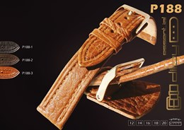 Correas de reloj de piel de bisonte. Ref. P188: Color Borgoña y Ancho 16mm CP00P188.04.16