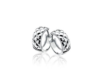 CREOLE EARRINGS SILVER AND DIAMOND ZINZI ZDO48