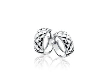 Argent et diamant créole Zinzi ZDO48