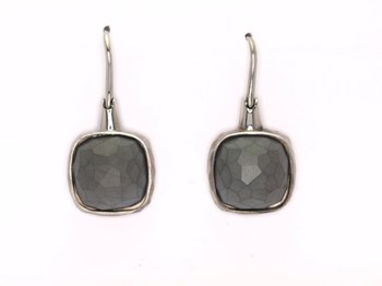 0089 Hematite earrings Pesavento