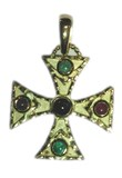 GOLDEN CROSS WITH FINE STONES