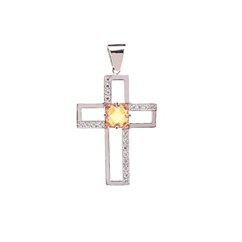 CROSS SILVER TOPAZ AND STONES 27T9T Stradda