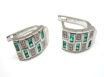 Pendientes  de oro y diamantes y esmeraldas PE146958
