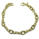 SPECTACULAR YELLOW GOLD BRACELET 18K FOR WOMEN'S 19.5 CM LONG BY 0.8 CM NEVER SAY NEVER