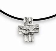 CROSS pendant in silver. 3.6 cm X 3 cm FP CZ06 - P Fili Plaza FP CZ06-P