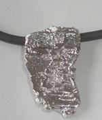 Pendant in silver. 4.5 cm X 2 cm FP C04 - P Fili Plaza FP C04-P