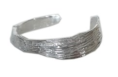 Bracelet in silver open and adapt, contour 15 cm FP P11 - P Fili Plaza FP P11-P