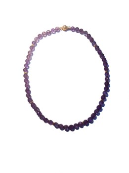 18K GOLD AND AMETHYST CHOKER NECKLACE