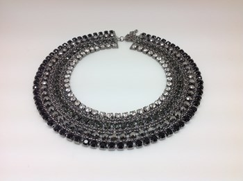 NECKLACE CHOKER IN METALS AND STONES 14227NC LineArgent