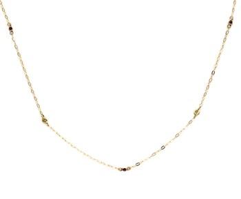 CHOKER NECKLACE YELLOW GOLD 750 THOUSAND�SIMAS (18KT) AND BRILLIANT-CUT DIAMONDS OF 0,06 KTS 1501/0090-ARB