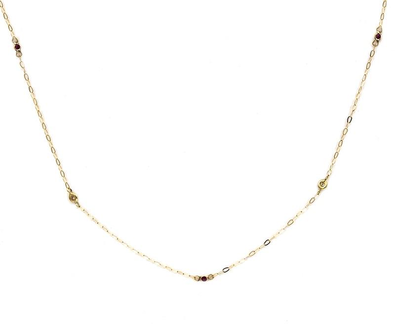 Collar Gargantilla oro amarillo de 750 milésimas (18kt)  y diamantes talla brillante de 0,06 kts  1501/0090-ARB
