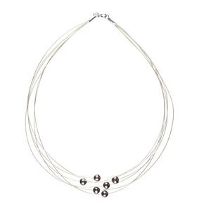 NECKLACE CHOKER CULTURED PEARLS AND SILVER LAW