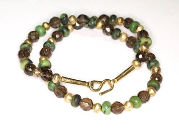 Choker NECKLACE green stones