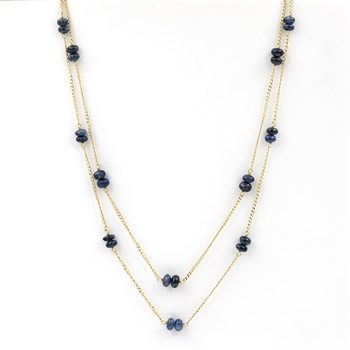 NECKLACE MADE IN YELLOW GOLD, 750 THOUSAND�SIMAS (18KT) DOUBLE-STRANDED 1501/0175-OAZ