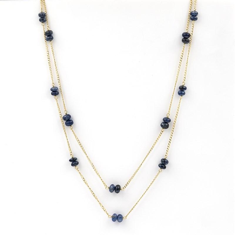 Collar Gargantilla realizada en oro amarillo de 750 milésimas (18kt) de doble cadena  1501/0175-OAZ