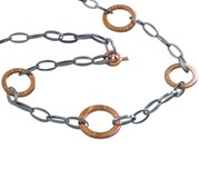 NECKLACE Choker Rebecca steel and bronze bstkxb01