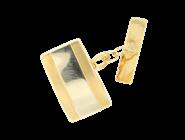 YELLOW AND WHITE GOLD CUFFLINKS