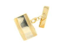 YELLOW AND WHITE GOLD CUFFLINKS