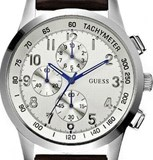 GUESS COASTAL W13530G2 - WATCH MEN OF QUARTZ, LEATHER STRAP COLOR BROWN