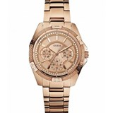 GUESS MINI PHANTOM WATCH IN STAINLESS STEEL PLATED FOR WOMEN, COLOR GOLD W0235L3