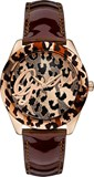 GUESS W0455L3 - QUARTZ WATCH FOR WOMEN LEATHER STRAP COLOR BROWN