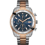 GUESS WATCH W0746G1 LUXURY WATCH FOR MAN, COLOR BLUE / GOLD