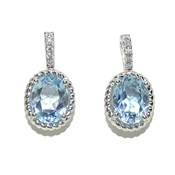 OUTSTANDING BLUE TOPAZ AND DIAMOND IN WHITE GOLD 18K. 4.94 CTS OF TOPAZ AND 0.11 CTS OF DIAMA NEVER SAY NEVER