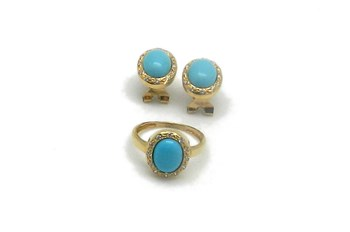 Combined set of EARRINGS and ring