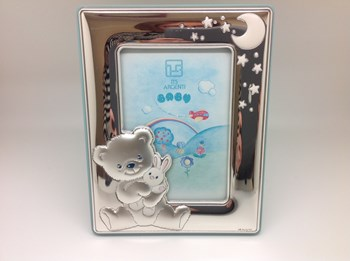 CHILDREN PHOTO FRAME IN SILVER
