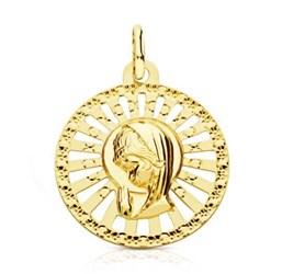 MEDAL OF GOLD VIRGIN GIRL