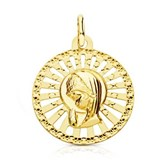 MEDAL OF GOLD VIRGIN GIRL