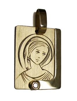 Médaille or lumineux de 18 k