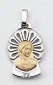 MEDAL GOLD 18 K SILVER SHINY  Finor 305-2