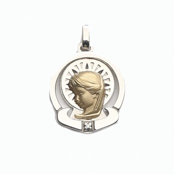 MEDAL GOLD 18 K SILVER SHINY  Finor 307-1