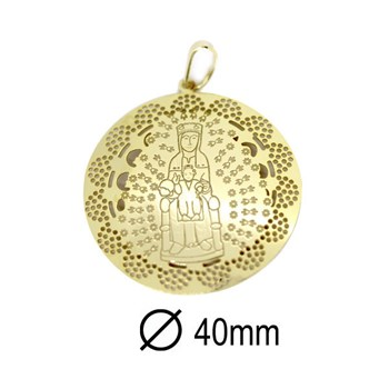 23H5Y GOLD PLATED MONSERRAT VIRGIN MEDAL Stradda