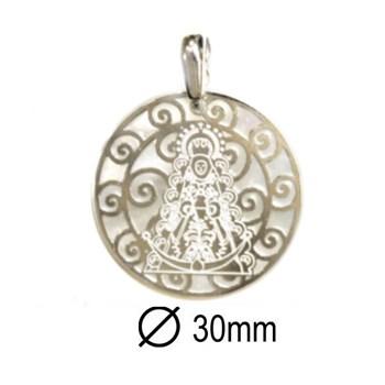 Virgen de Rocío Plata 9H507G médaille  Stradda