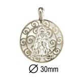 Medalla Virgen del Rocío Plata 9H507G  Stradda