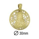 Medalla Virgen del Rocío Plata Chapada 9H507GY Stradda